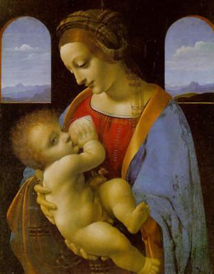 Мадонна Литта кормит грудью