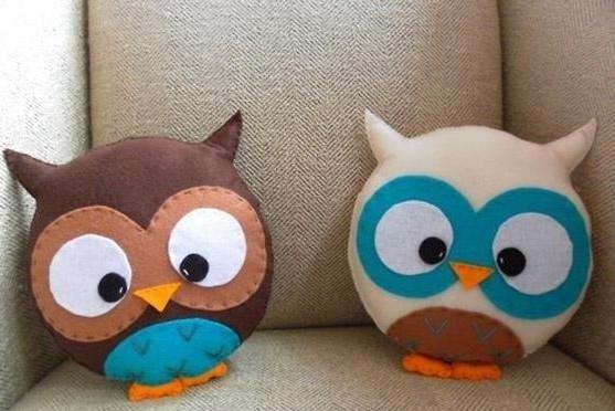 Игрушки-подушки - совята